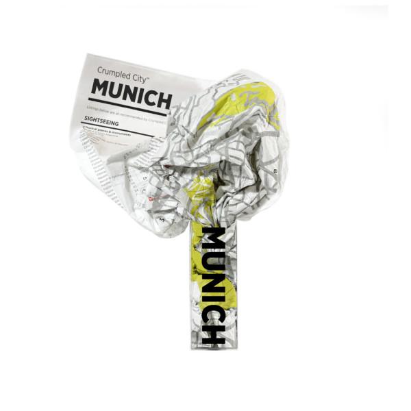 Crumpled City Map - Munich