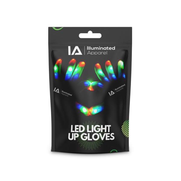 LED Light Up Gloves Small 13+ Years