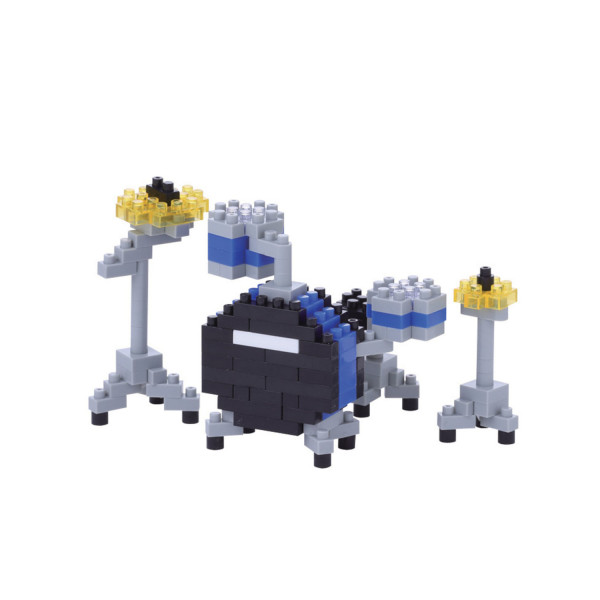 Nanoblock - Drum Set blue 170 pcs Level 2