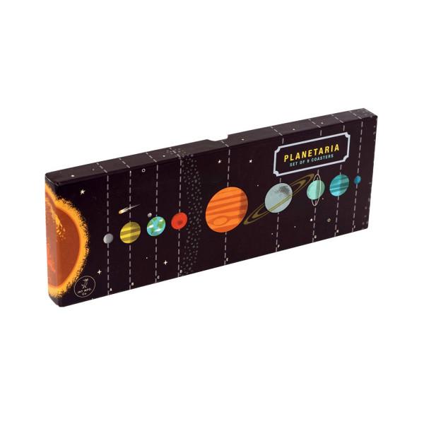 Planetaria Set mit 9 Untersetzern