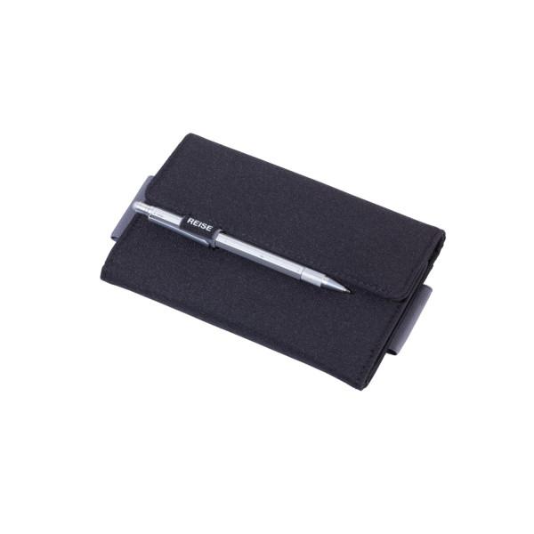 Organizer-Etui mit Magnetverschluss schwarz/grau