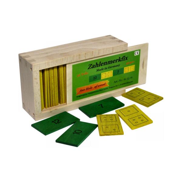 Zahlenmerkfix - Holz