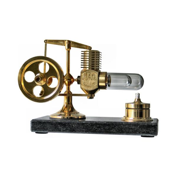 Stirlingmotor 24Karat vergoldet