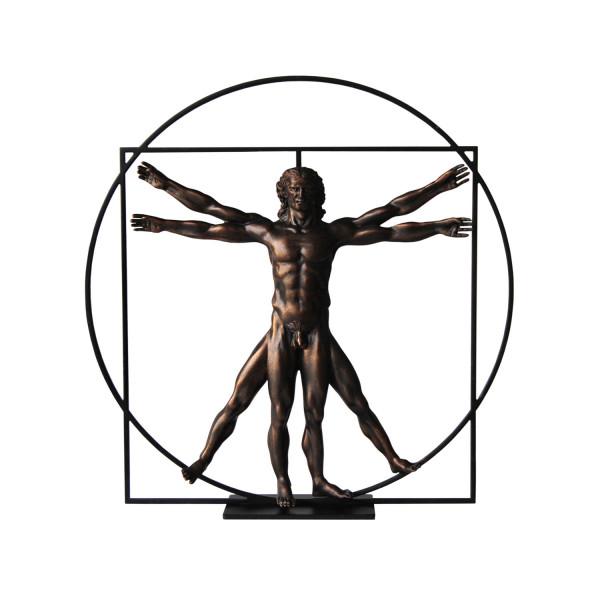 Da Vinci L'homme de Vitruve Bronze