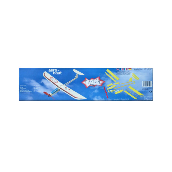 Gleitflugzeug mit Gummimotor Twist