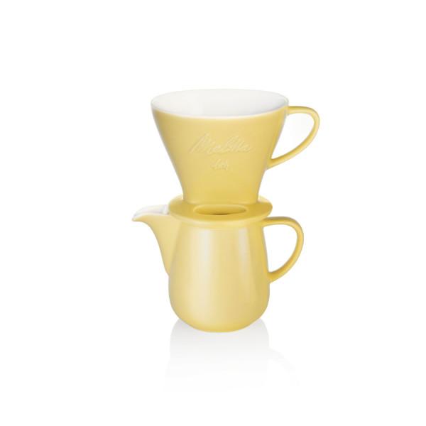 Kaffeefilterset Porzellan: Kanne Gelb