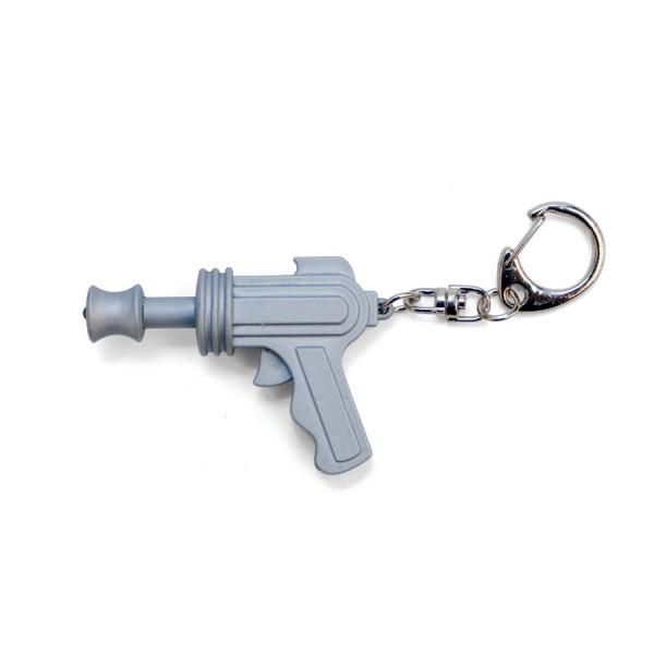 LED Keychain: Space Gun Silber