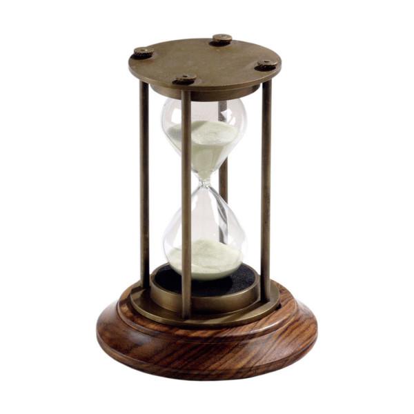 Stundenglas mit Holzsockel