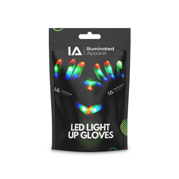 LED Light Up Gloves Small 4-7 Years