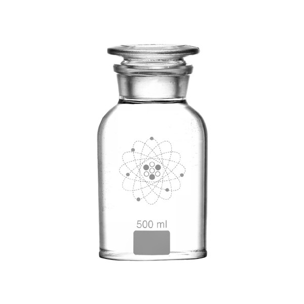 Lab Apothecary Jar 500 ml Clear White