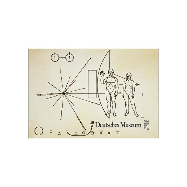Deutsches Museum Magnetbild - Pioneer Plaque