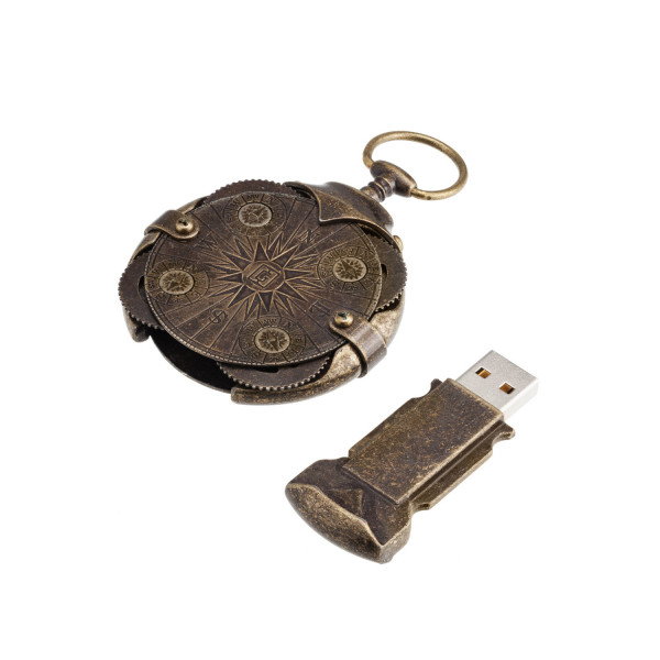 Cryptex USB flash 2.0 32 GB Roundlock gold