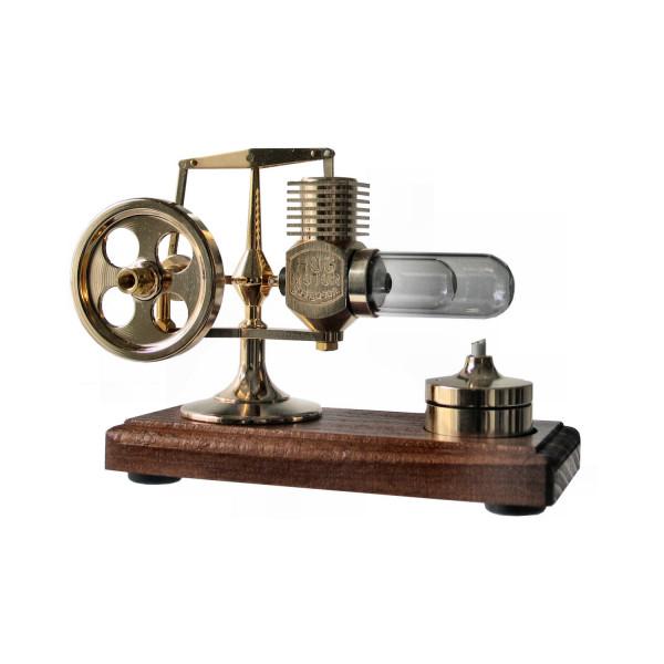 Stirlingmotor vergoldet