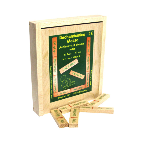 Rechendomino Masse - Holz