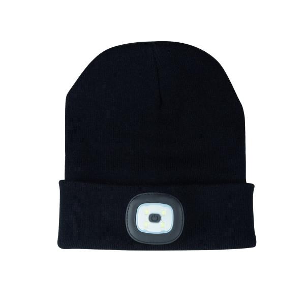 Headlight Mütze mit LED Leuchte schwarz