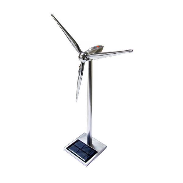 Solar Windgenerator Metall mit LED 50 cm