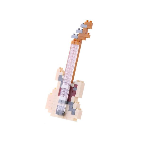 Nanoblock - Electric Guitar Ivory 130 pcs Level 2