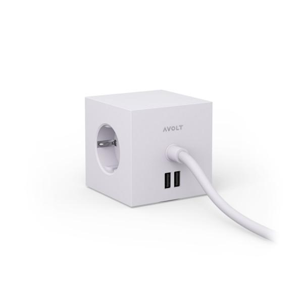 Square 1 USB & Magnet Grau