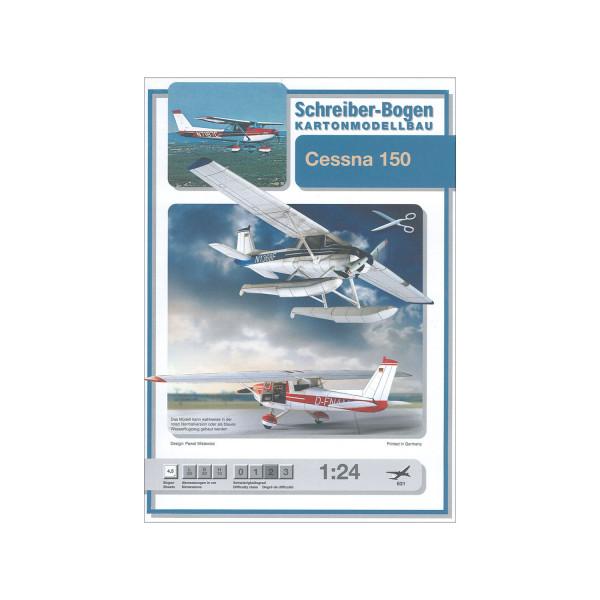 Kartonmodell Cessna 150 1:24