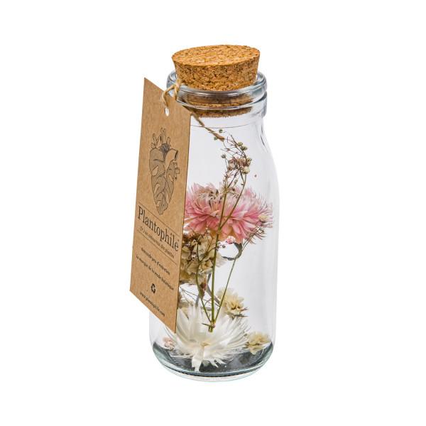 Trockenblumen Flasche Medium