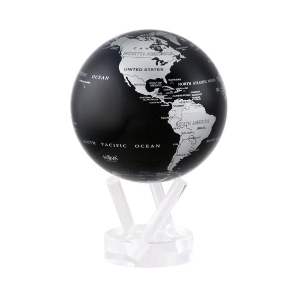 Mova Globe 6,0 (15,3cm) -Silver Black metallic-