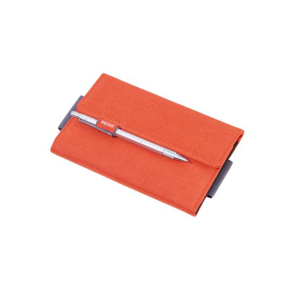 Organizer-Etui mit Magnetverschluss Orange/Grau