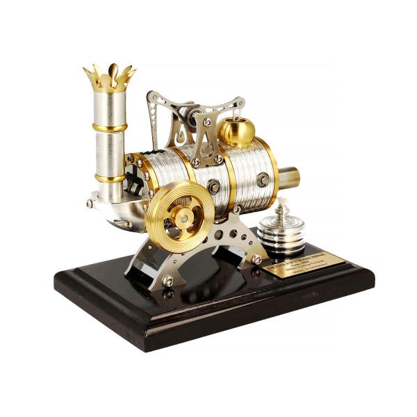 Stirlingmotor Kraftwerk dunkel BHB5