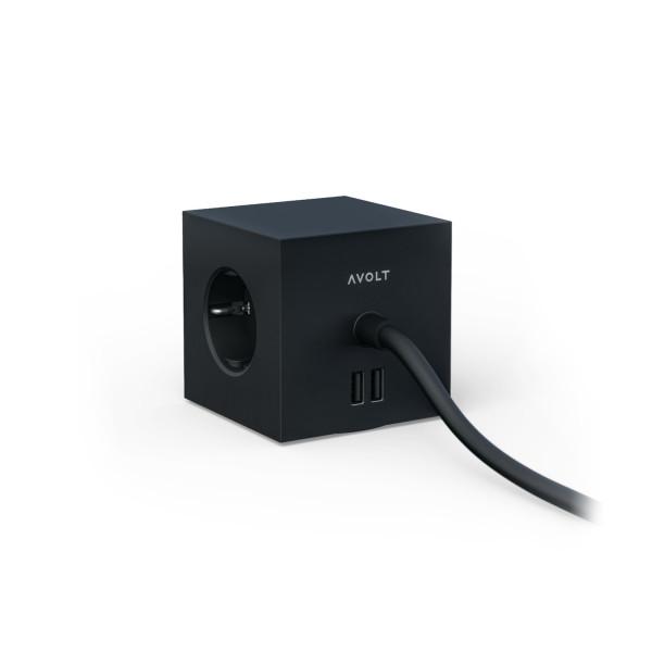 Square 1 USB & Magnet Stockholm Black