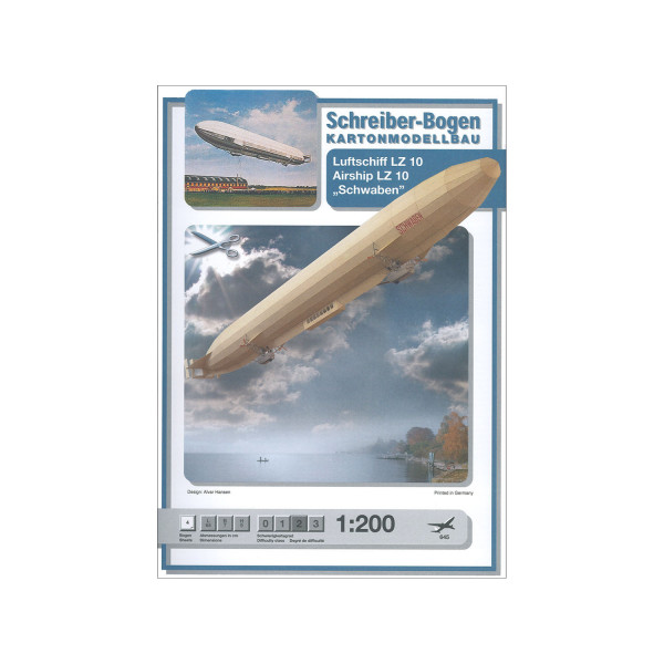 Kartonmodell Luftschiff Schwaben 1:200