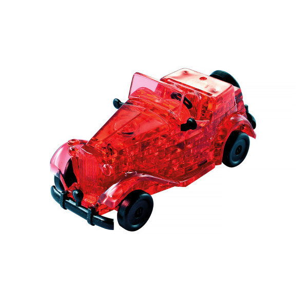 3D Crystal Puzzle Oldtimer, Rot